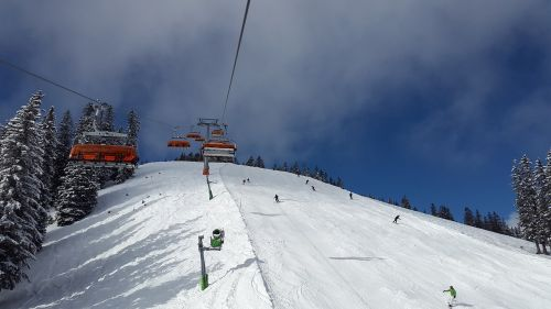 chairlift alpine skiing skiing