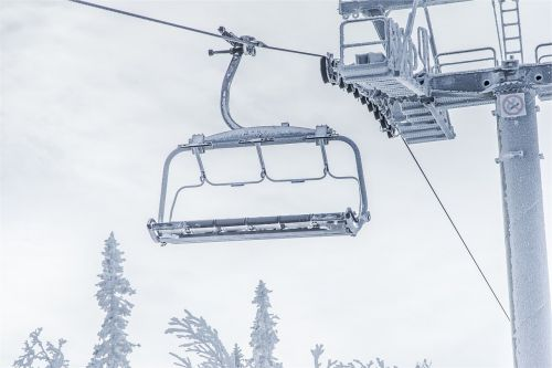 chairlift winter snow