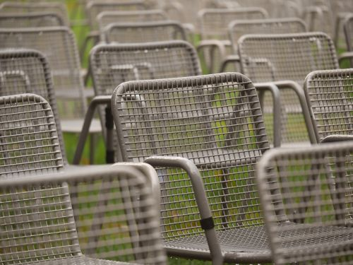 chairs metal event
