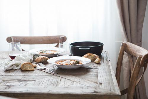 chairs dish food
