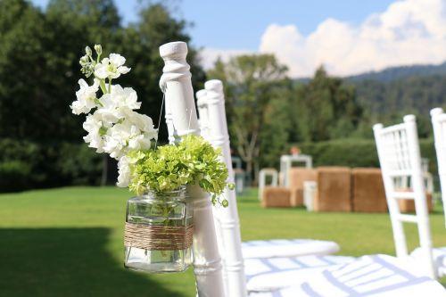 chairs garden wedding