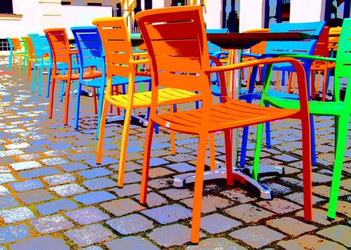 chairs chair colorful
