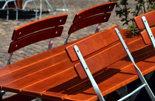 chairs table beer garden