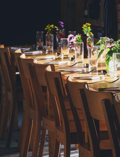chairs table setup