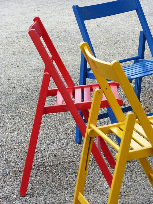 chairs  colors  folding chairs