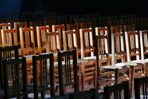 chairs  church  sit