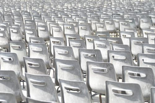 chairs rows of seats group