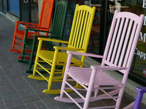 chairs rocking wooden