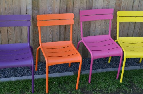 chairs furniture colorful
