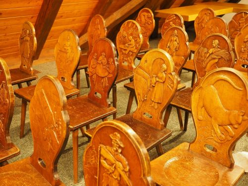 chairs carved wood
