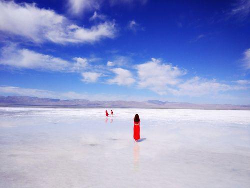 chaka salt lake habitat sky