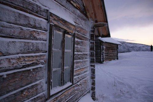 chalet  snow  lapland