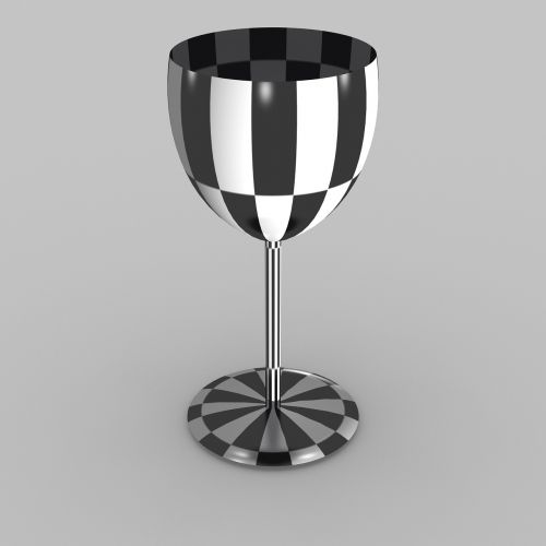 chalice chequered 3d