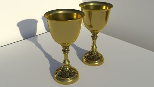 chalices gold 3d