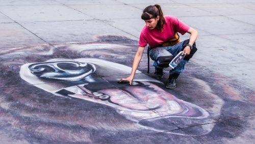 chalk art city
