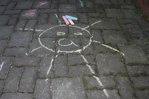 chalk drawing kreidezeichung