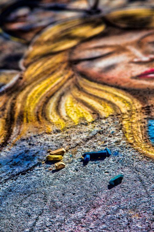 chalk art drawing festival