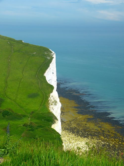 chalk cliffs england cliffs