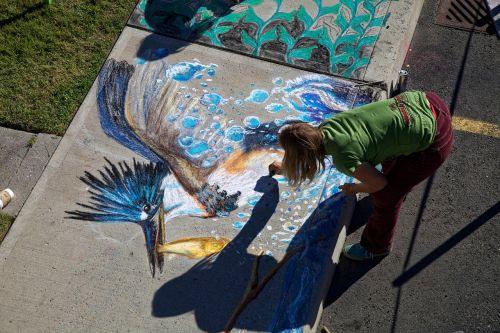 chalk drawing artistic chalk
