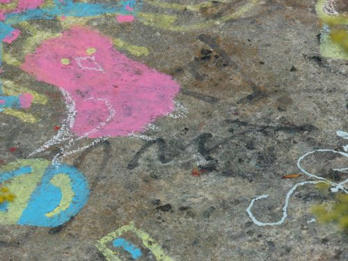 Chalk Drawings And Graffiti