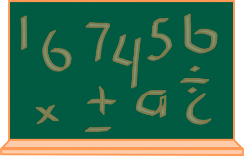 chalkboard numbers leters