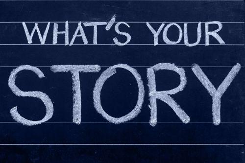 chalkboard story blogging