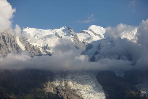 chamonix glacier landscape