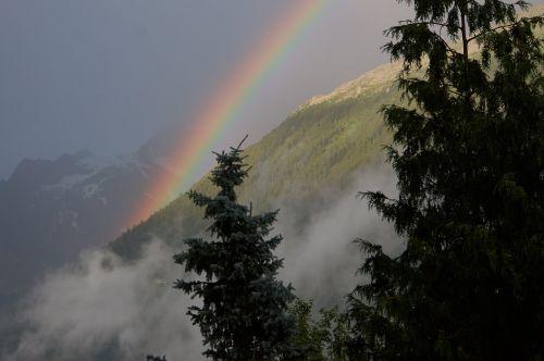 chamonix rainbow sky