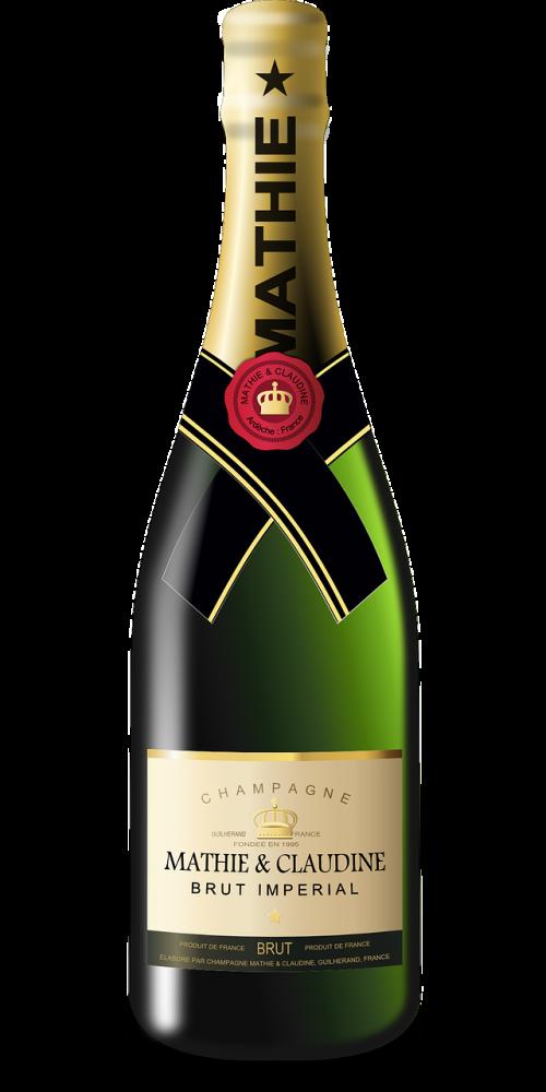 champagne sparkling wine bottle