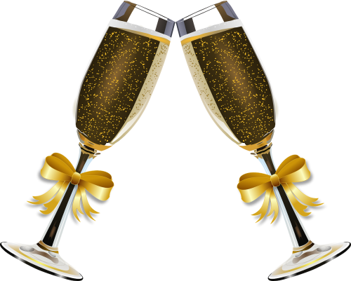 champagne clink glasses alcohol