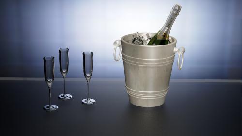 champagne sparkling wine 3d