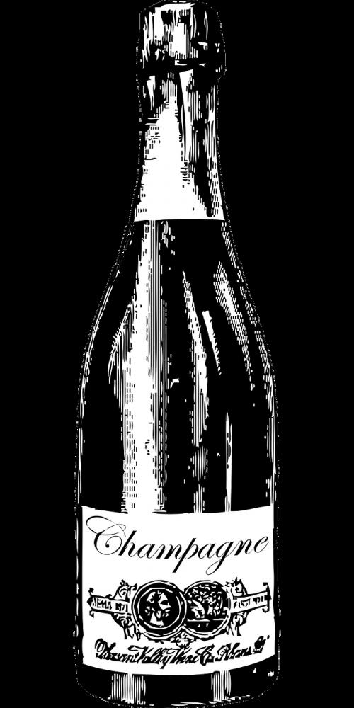champagne bottle liquor