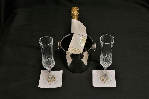 champagne glasses champagne cooler