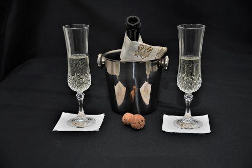 champagne cork champagne glasses