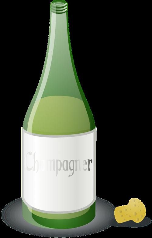 champagne bottle green