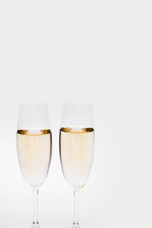 champagne  glasses  prost