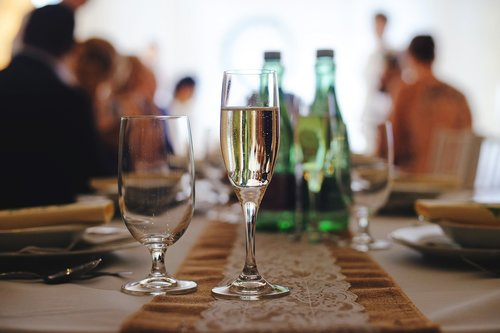 champagne  party  wedding