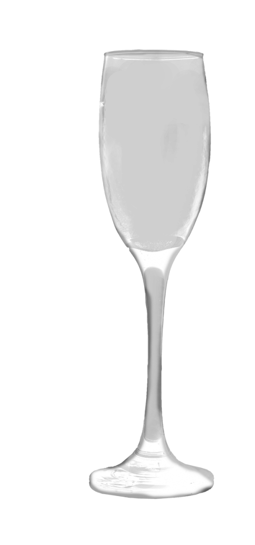 champagne glass transparent isolated