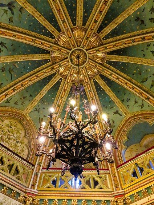 chandelier  castell coch  wales