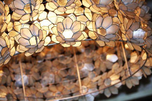 chandelier light flowers