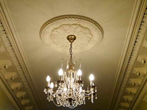 chandelier country house stucco