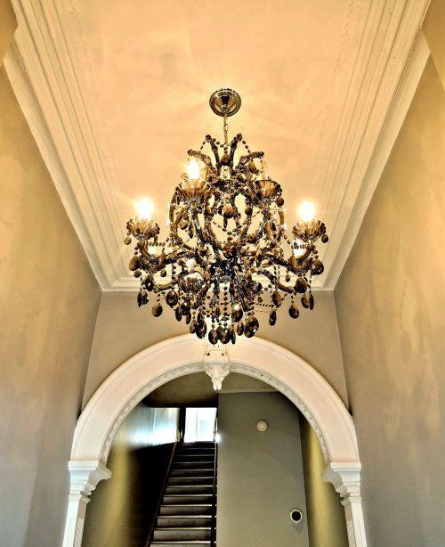chandelier hallway building