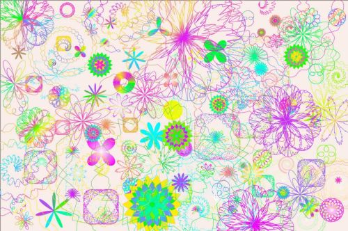 gėlės, chaosas, atsitiktinai, spalva, tapetai, balta, fonas, chaosas