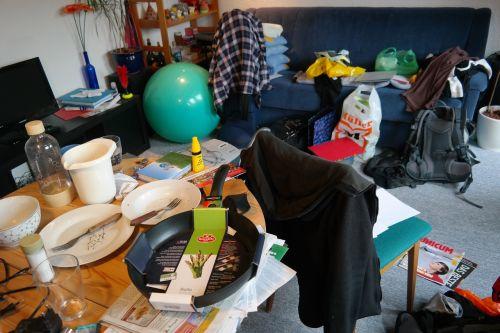 chaos clutter a mess