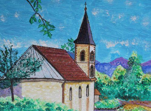 chapel mountains landscapes