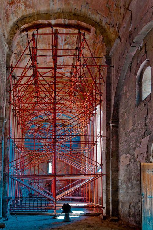 chapel scaffolding renovation