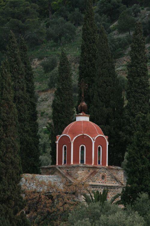 chapel mount athos cypress