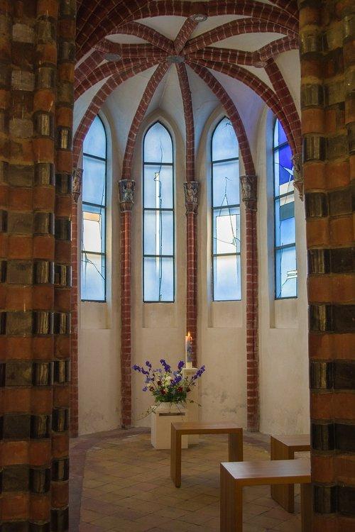chapel  blue  church window
