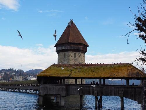 chapel bridge water tower lucerne
