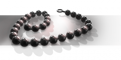 chaplet black chain